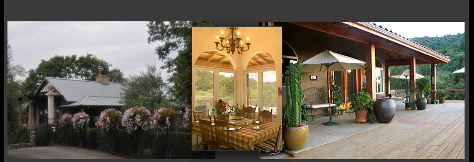 Photos of this 2 bedroom 2 bath private, gated villa vacation rental in the Napa Valley Wine Country